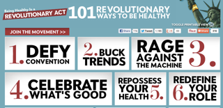 Image courtesy from: 101 Revolutionary Ways to Be Healthy- www.revolutionaryact.com/101ways/